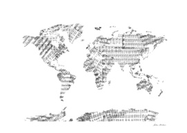 world map music notes 2