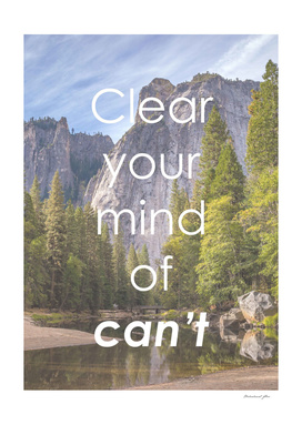 Motivational - Clear Your Mind Of Can't