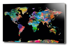 World map watercolor 5