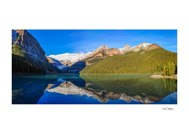 Serenity at Lake Louise Panorama, Alberta, Canada.