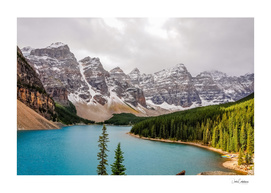 Patch of sunlight at Lake Moraine