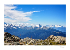 Alpine mountain view in Canada