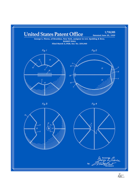 Basketball Patent - Blueprint