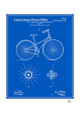 Bicycle Patent - Blueprint