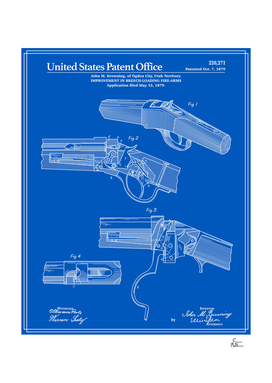 Breech Loading Rifle Patent - Blueprint
