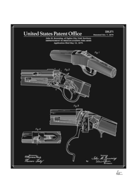 Breech Loading Rifle Patent - Black