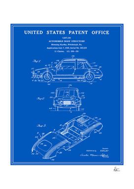 Automobile Body Patent - Blueprint