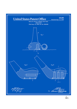 Golf Club Patent - Blueprint