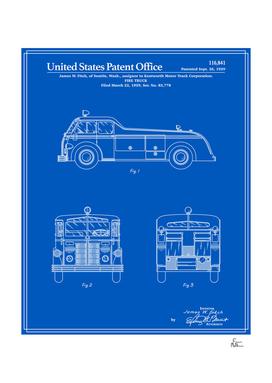 Firetruck Patent - Blueprint