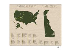 US National Parks - Delaware