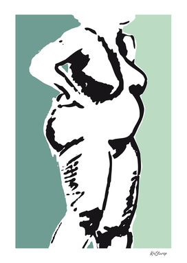 Nude 'rubenswoman'