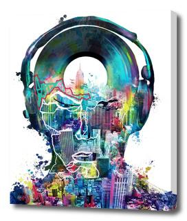 new york  city sound colorful