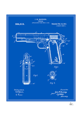 Handgun Patent - Blueprint