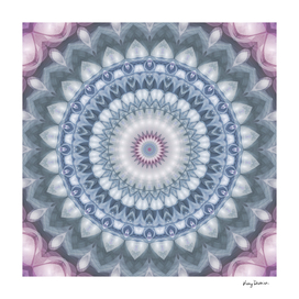 Plum and Grey Mandala
