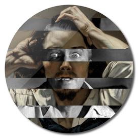 "Courbet ""The Desperate Man"" Self Portrait & James Stewart"