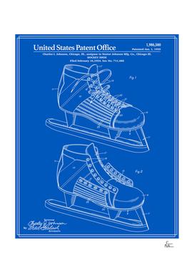 Hockey Skate Patent - Blueprint