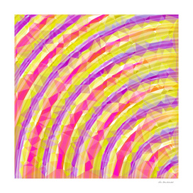 psychedelic geometric polygon pattern in pink purple yellow