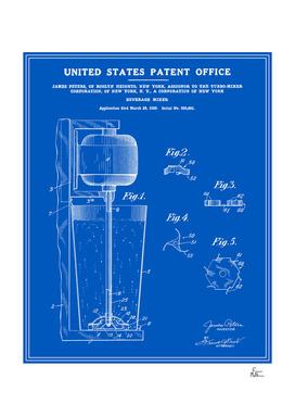 Beverage Mixer Patent - Blueprint