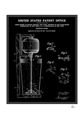 Beverage Mixer Patent - Black