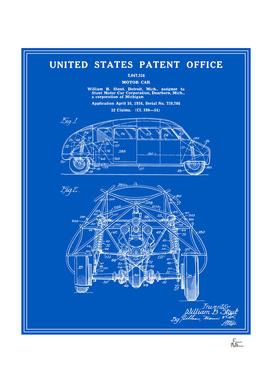 Motor Car Patent - Blueprint