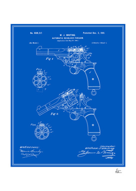 Automatic Revolver Patent - Blueprint