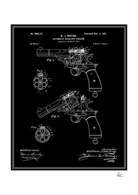 Automatic Revolver Patent - Black
