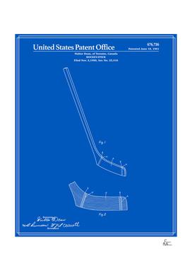 Hockey Stick Patent - Blueprint