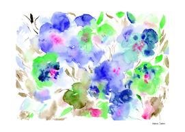 Bloom in blue || watercolor