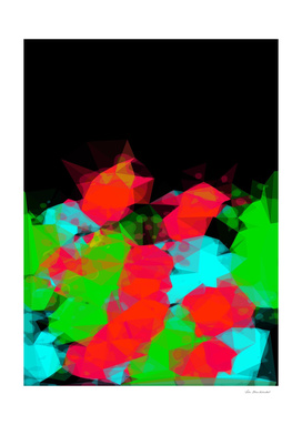 geometric triangle abstract pattern in green blue red