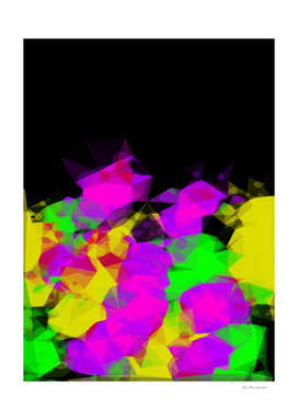 geometric triangle abstract pattern in pink yellow green