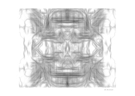 psychedelic graffiti skull art abstract in black and white