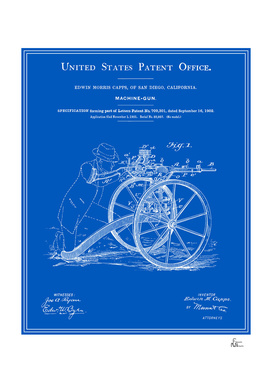 Machine Gun Patent - Blueprint