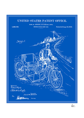 Motorcycle Sidecar Patent - Blueprint