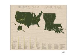 US National Parks - Louisiana