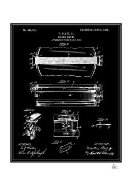 Snare Drum Patent - Black
