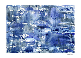 Shabby blue #2 || watercolor