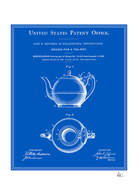 Tea Pot Patent - Blueprint