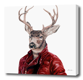 Deer in Leather