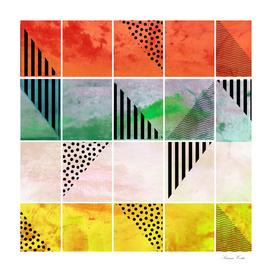 mosaic abstract coral