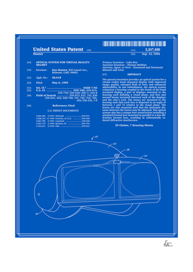 Virtual Reality Helmet Patent - Blueprint