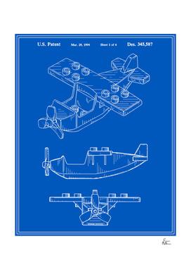 Toy Airplane Patent - Blueprint