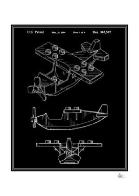 Toy Airplane Patent - Black