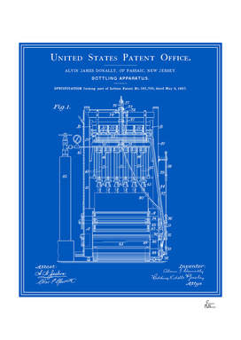 Beer Bottler Patent - Blueprint