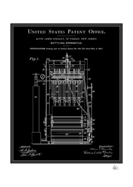 Beer Bottler Patent - Black