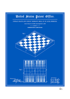 Game Board Patent - Blueprint