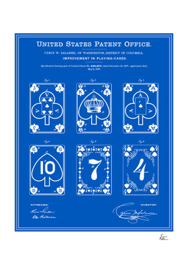 Playing Cards Patent - Blueprint