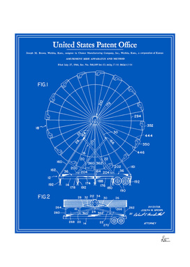 Amusement Ride Patent - Blueprint