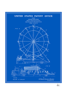 Ferris Wheel Patent - Blueprint