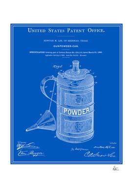 Gunpowder Can Patent - Blueprint
