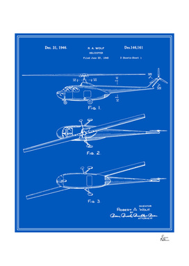 Helicopter Patent - Blueprint